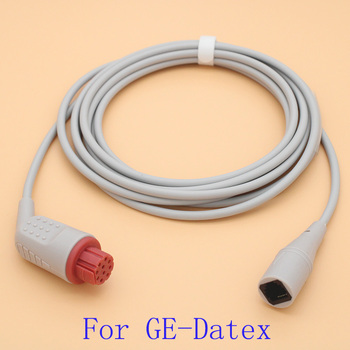 Compatible with GE-Datex monitor,Medex/Abbott/Smith IBP sensor trunk cable and disposable pressure transducer,10pin IBP cable. image