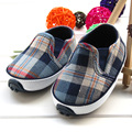 NEW 2016 Spring&fall Baby Boys Shoes Indoor Slip-on Prewalker Infant Good Quality First Walkers Plaid Toddler Shallow Shoes