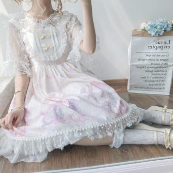 Kawaii clothing Japanese fashion Lolita jsk dress women summer cute bow cat lolita strap Gothic tea party sweet Lolita dress Women's Clothing & Accessories cb5feb1b7314637725a2e7: Apricot Sleeveless|Blue Sleeveless|only shirt|Pink Sleeveless|Purple Sleeveless