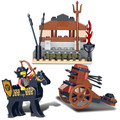 Sluban Castle Series Knight With Horse Action Figures Crossbow Weapon  Model Building Blocks Set Compatible With Legoe