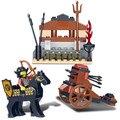 Sluban Serie Castillo Caballero Con Caballo Ballesta Arma Modelo Figuras de Acción Building Blocks Set Compatible Con Legoe