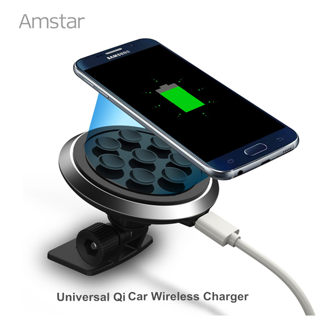 Amstar Qi Car Wireless Charger Wireless Charging pad Wireless Car Charger + Charger Receiver