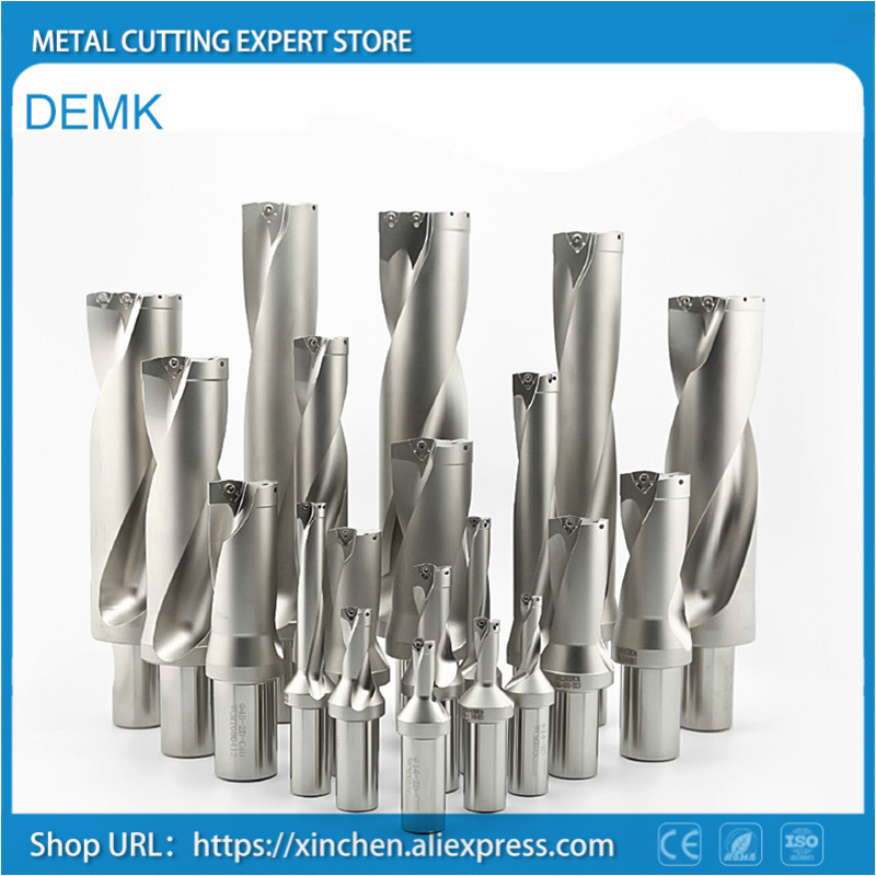 WC series U drill fast drill 21 24.5mm 3D depth  Shallow Hole dril for Each brand WC series blade Machinery Lathes CNC|Drill Bits| |  - title=