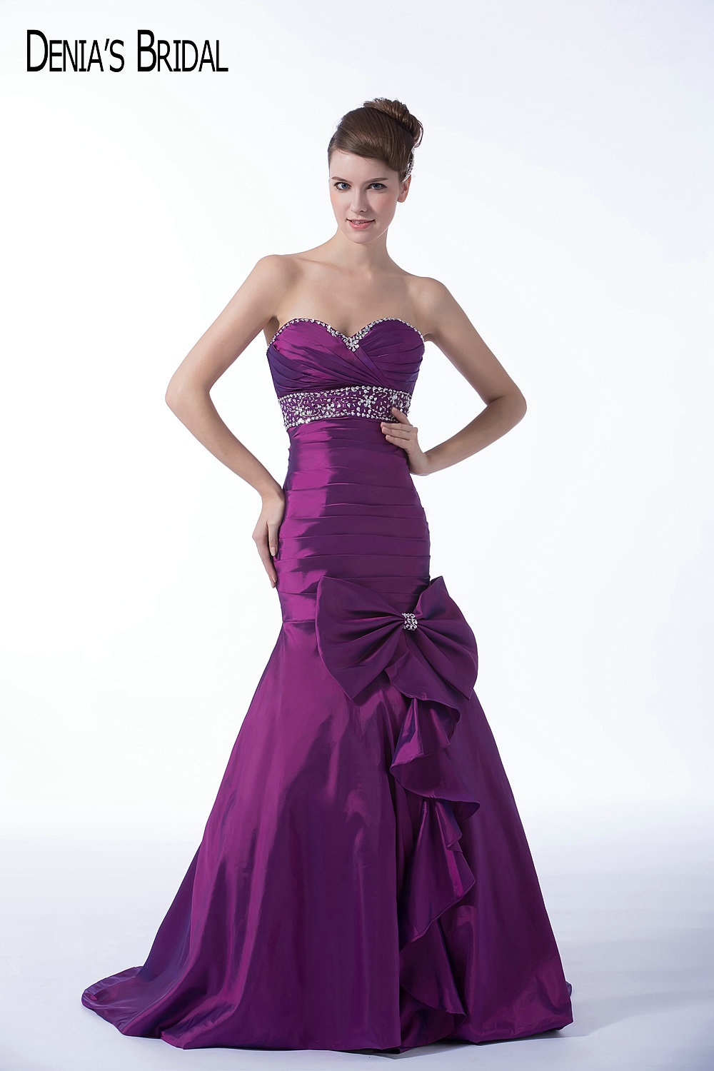 Popular Purple Evening Gown Beaded-Buy Cheap Purple Evening Gown ...