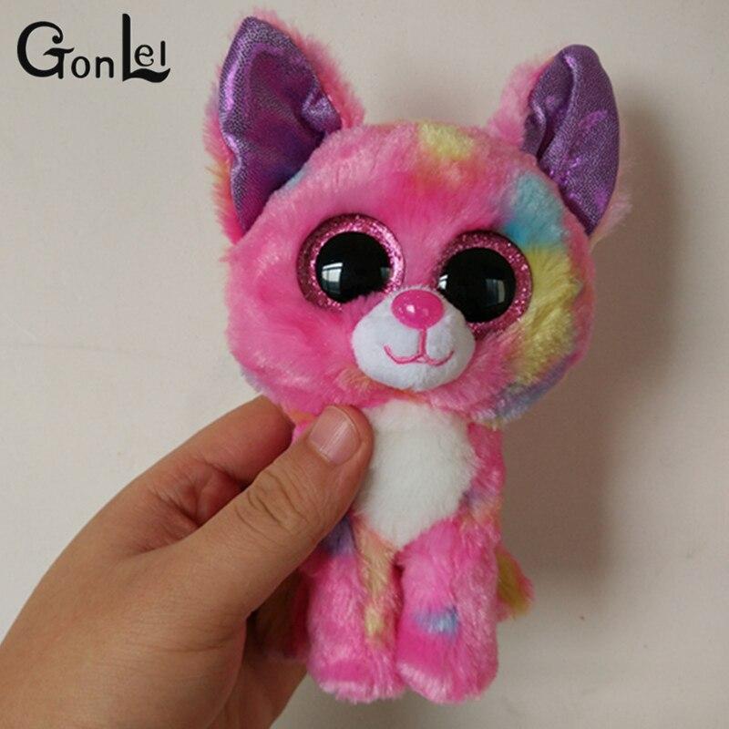 Gonlei Ty Beanie Boo плюшевые-гречневая Lynx 15 см 6 Большой Средства ухода для век плюшевые игрушки куклы фиолетовый панда подарок для маленьких детей