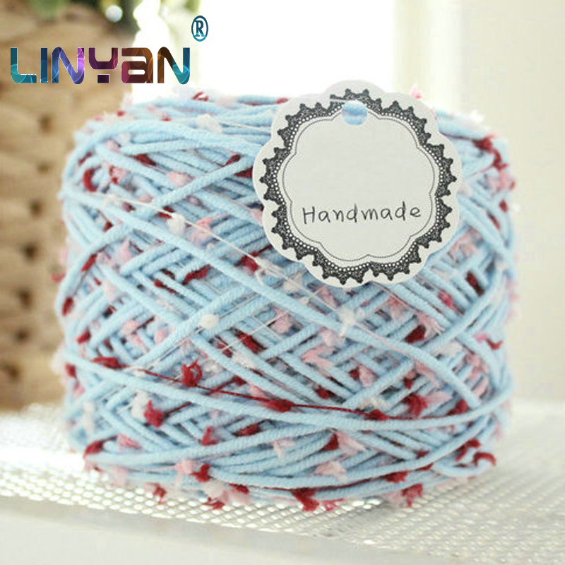 3balls * 125g Di Spessore Filato Per Maglieria Di Lana Cotone Crochet Filato Mohair Filato Nastro Filato Filetto Per Lavorare A Maglia Mano Zl5270