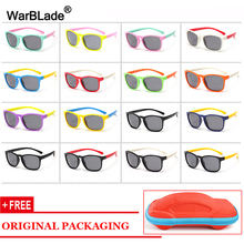 WarBLade поляризованные солнцезащитные очки для женщин дети очки с гибкой оправой красивая детская одежда с UV400 солнцезащитные очки защитные очки для мальчиков и девочек с чехлом