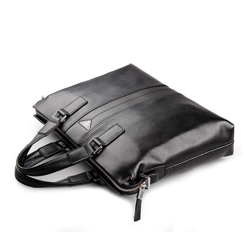 brown Rindsleder 2018 Tasche Schulter Tragbare Schwarzes P630181 Männer Geschäfts Messenger Kuone Handtasche Freizeit Große Aktentasche P Laptop AfqaWExAr4