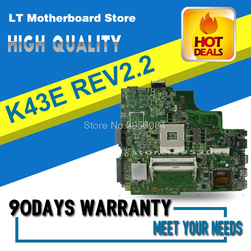 High quality For ASUS K43E USB3.0 REV 2.2 PGA989 HM65 DDR3 Laptop motherboard K43SD 100% Fully tested quality 48 4pa01 021 lz57 for lenovo ideapad b570 b570e laptop motherboard 11013537 lz57 hm65 pga989 ddr3 410m 1gb fully tested