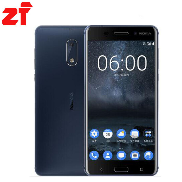 bilder für Nokia 6new Original Nokia 6 LTE 4G Handy Android 7 Qualcomm Octa Core 5,5 ''Fingerabdruck 4G RAM 32 gb 64 gb ROM 16MP