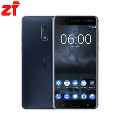 Nokia 6new D'origine Nokia 6 LTE 4G Mobile Téléphone Android 7 Qualcomm Octa Core 5.5  »D'empreintes Digitales 4G RAM 32 gb 64 gb ROM 16MP