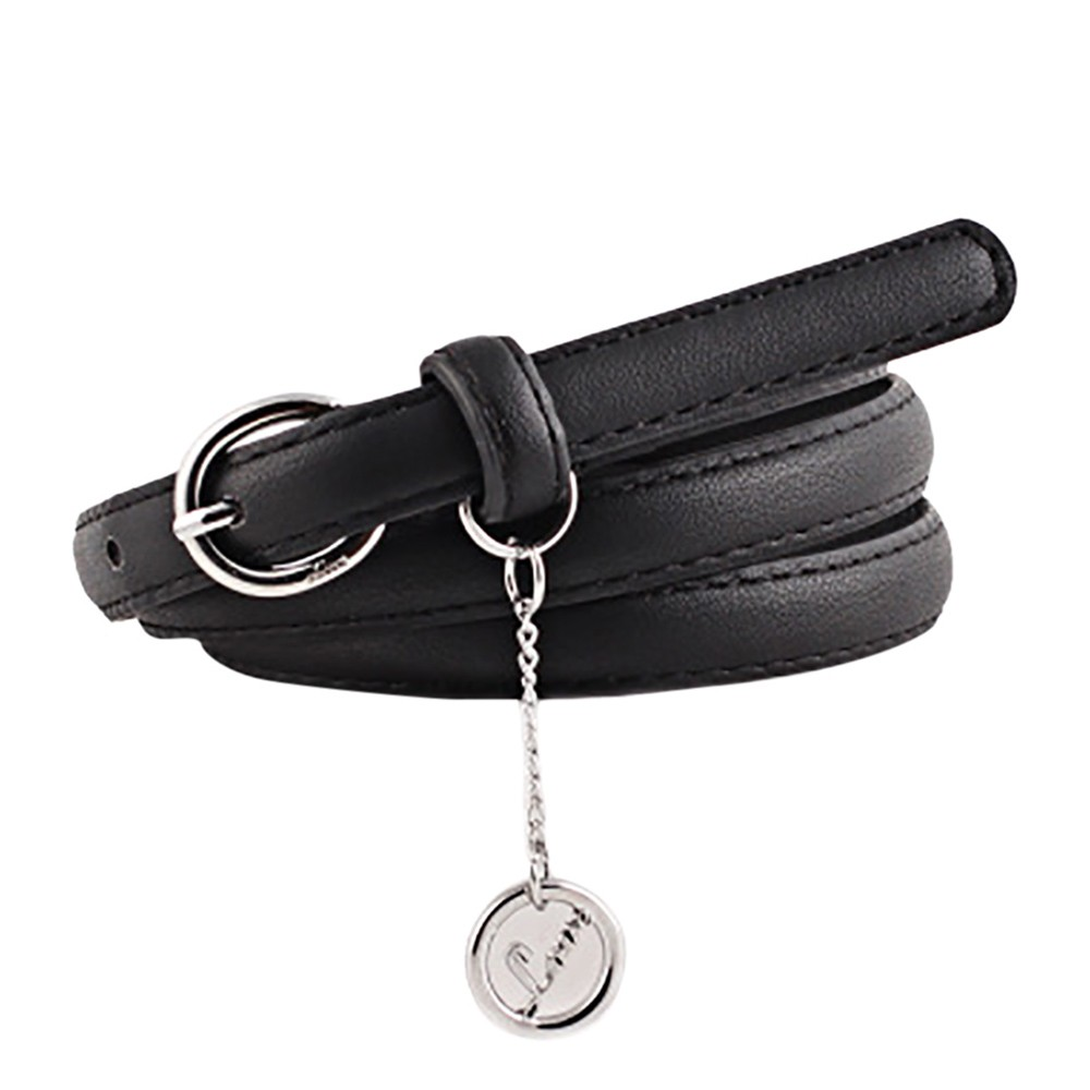 Belts For Women Vintage Accessorie Letter Pendant Casual Thin Leisure Leather Belt Female Dress Waistband A0322