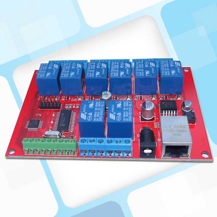 8 Weg Ethernet Relais Netzwerk Schalter Punkt Verzögerung Tcpudp Modul Controller Und Verdauung Hilft