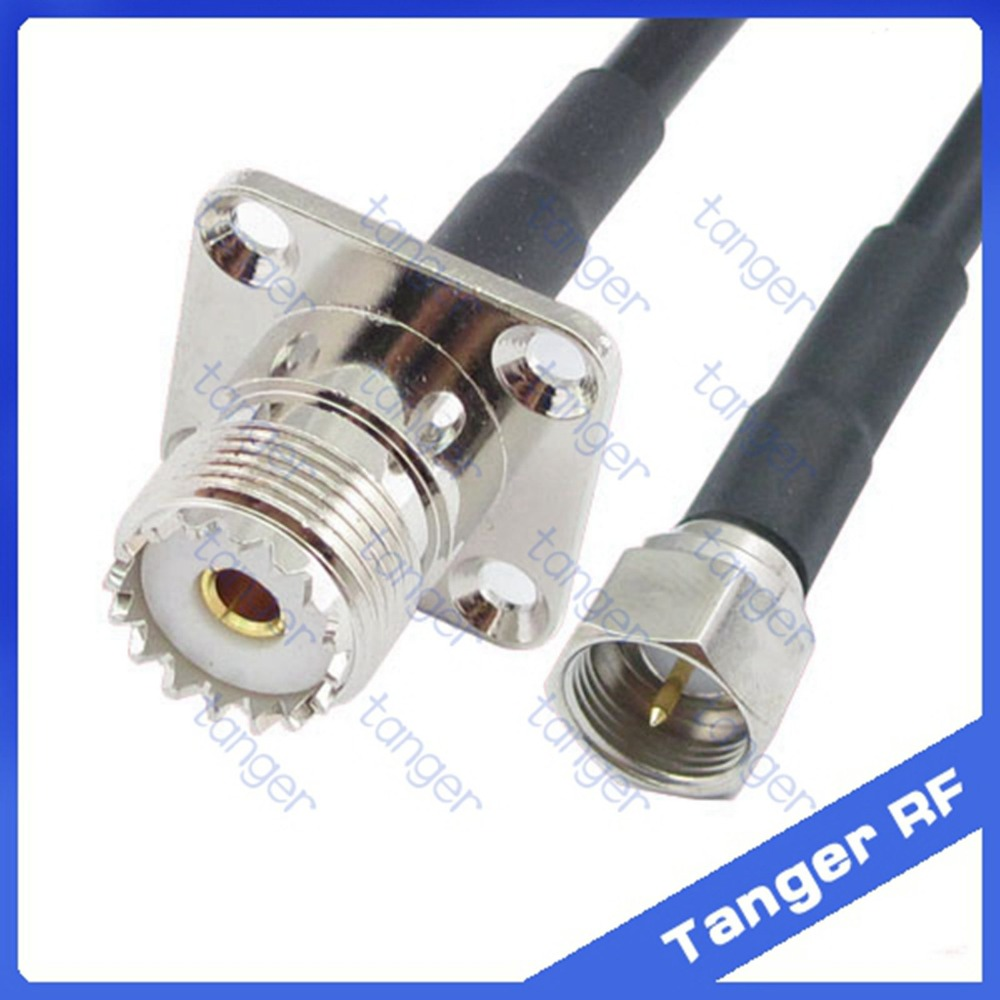 Tanger F male plug to UHF female jack SO239 4four hole panel straight RF RG58 Pigtail Jumper Coaxial Cable 20inch 50cm русский гамак rg 20 материал канвас полоска 4