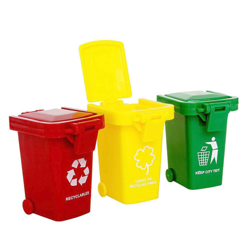 Environmental Protection Educational Toy Trash Can Toy Garbage Trucks Cans Mini Curbside Vehicle Bin Toy
