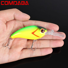 1pcs 14g 10cm Crankbait Fishing Wobblers Hard bait Bass Spinner Fishing Lures 13 Colors Pesca fishing tackle