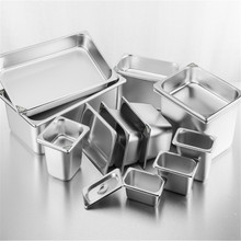 Pots Containers-Lid Food-Pan Kitchen 304-Stainless-Steel Buffet Square Chafing 1/9