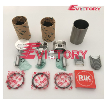 Engine rebuild kit 3D74 3TN74 3TNE74 piston + ring cylinder liner 3TNE74 full gasket kit main/con rod bearing for Yanmar