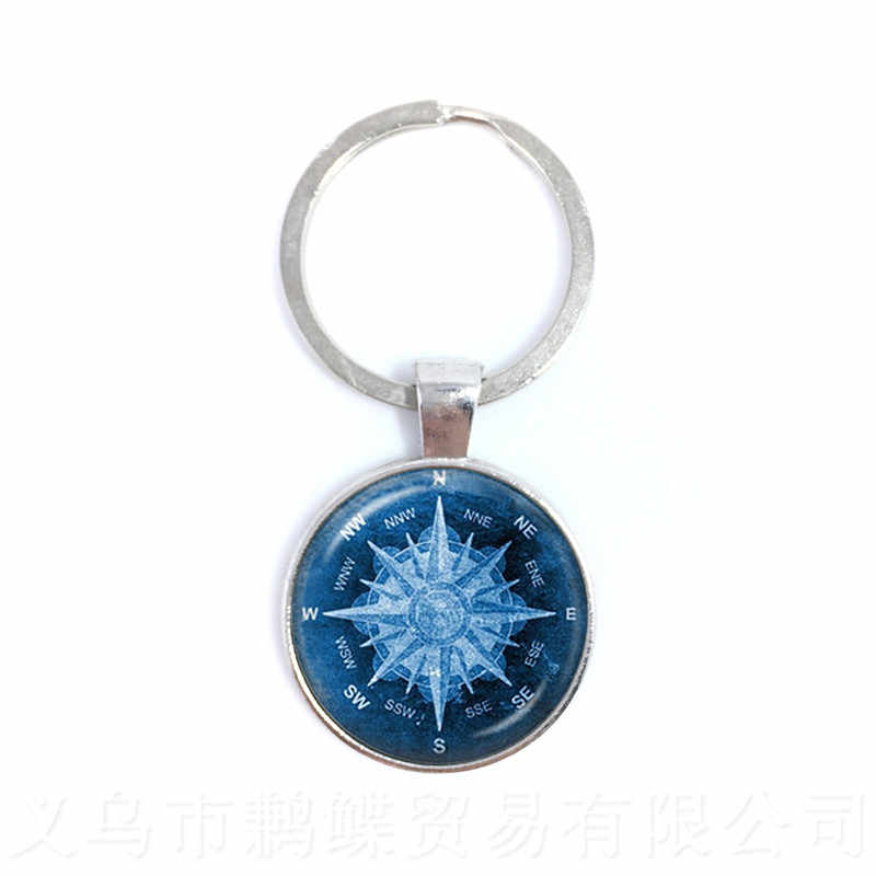 2018 New Compass Keychain Back To School Gift Graduation Gift Go In The Direction Of Your Dreams Keyring