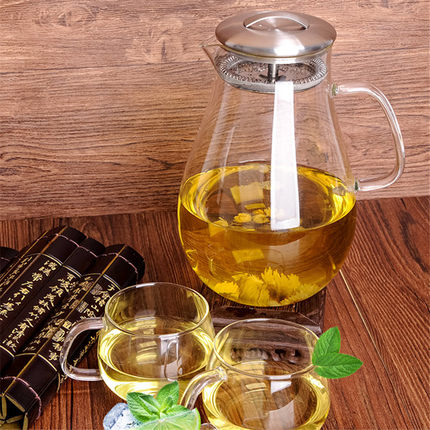 hot Cold kettle glass high temperature home explosion-proof large-capacity heat-resistant cold pot fruit juice bar pot teabag