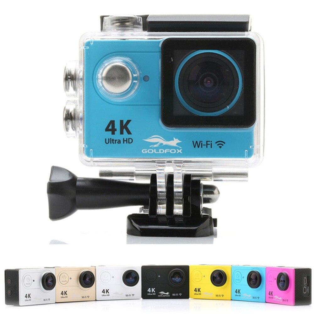 GOLDFOX H9 действие Камера Ultra HD 4k WiFi спортивные видео Камера 2,0 ЖК-дисплей Go водонепроницаемый шлем с креплением для камеры Pro 1080 P Mini DV видеокаме...