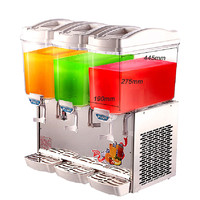 Jamielin 17*3 Tank Cylinder Drink Machine Commercial Hot Cold Drink Milk Coffee Juice Spray Type Beverage Dispenser Machine