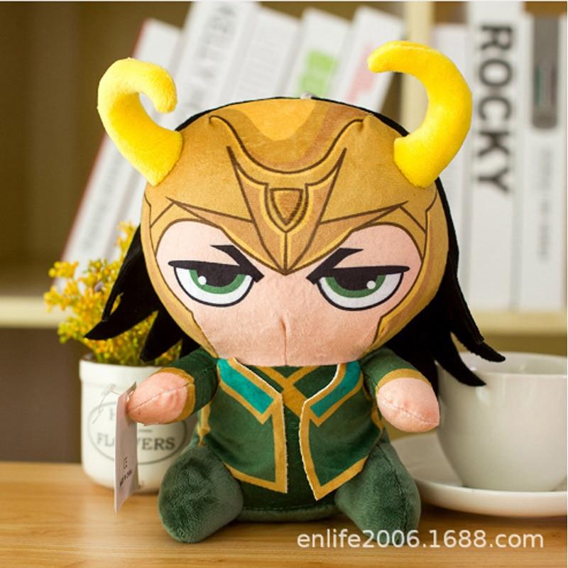Marvel Мстители 4 плюшевые игрушки супергерой плюшевые куклы Капитан Америка, Железный человек Человек-паук Тор плюшевые мягкие игрушки Человек-паук - Цвет: Серый