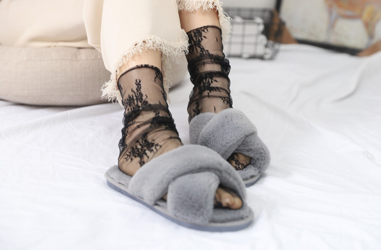 HTB1FVe5TlLoK1RjSZFuq6xn0XXaM - Sexy Tulle Socks Transparent Thin Long Lace Socks For Women Girl Summer Funny Socks Female Dress Hosiery Loose Sock Street