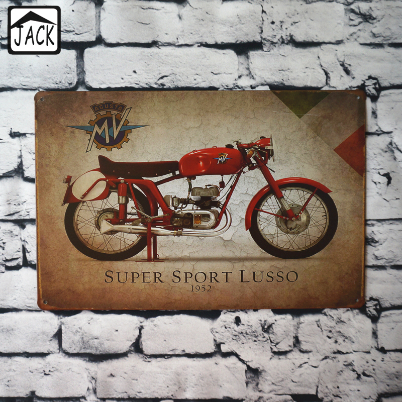 8x12 Inch Metal Tin Signs Super Sport Motorcycle Garage Gallery Coffee Store Club Bar Pub Wall Vintage Plate Home Decor