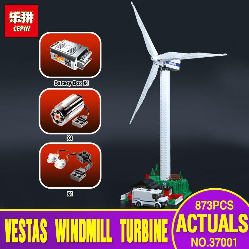New Lepin 37001 Creative Series The Vestas Windmill Turbine Set Children Educationl Building Blocks Bricks Toys Model Gifts 4999 new lp2k series contactor lp2k06015 lp2k06015md lp2 k06015md 220v dc