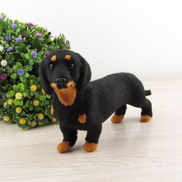 Aliexpress Com Buy Black Dachshund Dog Plastic Furs Simulation