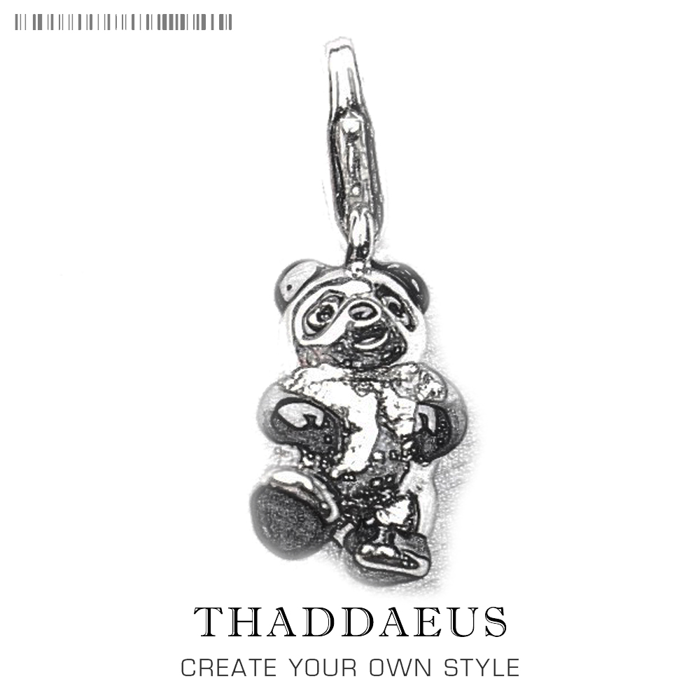 Dancing Panda Charms Pendant Black and White Color Charm Fit ...