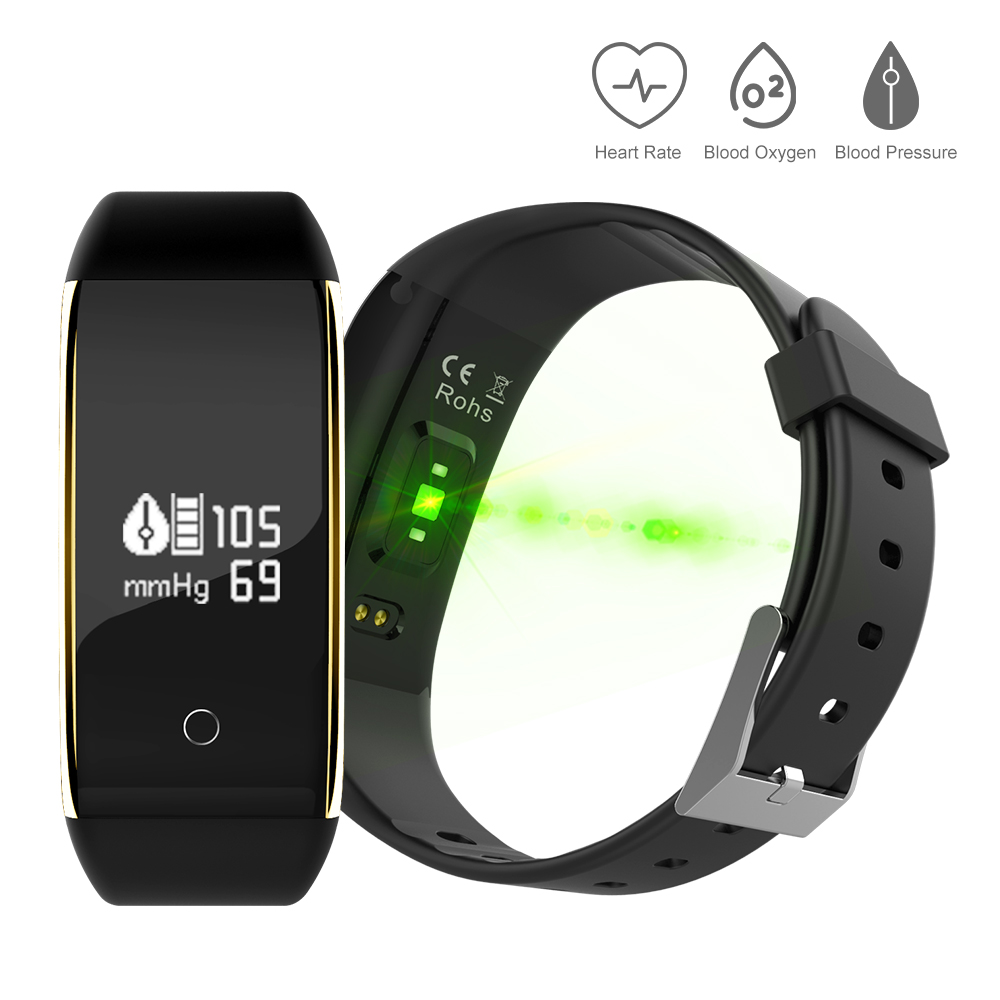 IP67 Waterproof Pedometer V9 Smart Blood Pressure Monitor Heart Rate Fitness Tracker Pedometer Running Step Counter Wrist Watch