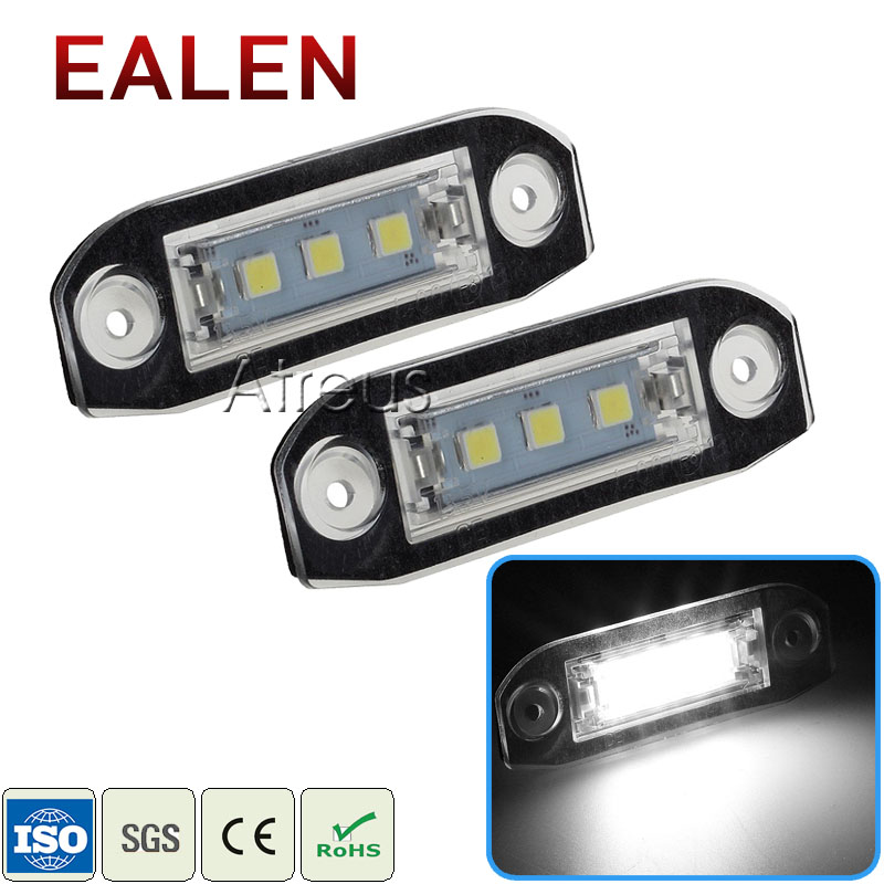 EALEN 1Pair Car LED License Plate Lights For <font><b>Volvo</b></font> XC90 S80 V70 S60 <font><b>XC60</b></font> S40 V50 V60 C70 XC70 white SMD 12V LED Lamp <font><b>accessories</b></font> image