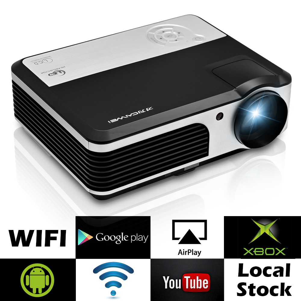 Caiwei Digital Led Projector Home Theater Beamer Lcd: CAIWEI LED Android WIFI Projector HD Home Theater Backyard