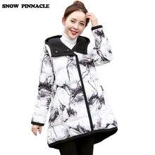 SNOW PINNACLE Winter jacket women both side wear Warm cotton padded hooded jacket coat Thicken female outwear parks CX-6910