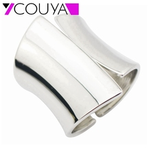 2017 Fashion Punky Style Shiny Silver Cuff Big Bangles For Women Infinity Charm Vintage Wide Alloy Bracelet Bangle Lady Gift