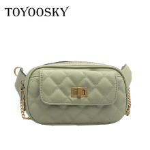 TOYOOSKY Waist Bags For Women Designer Chain Fanny Pack Fashion Belt Bag Female Simple Chest Bags Pu Leather Shoulder Bags Bolsa купить недорого в Москве