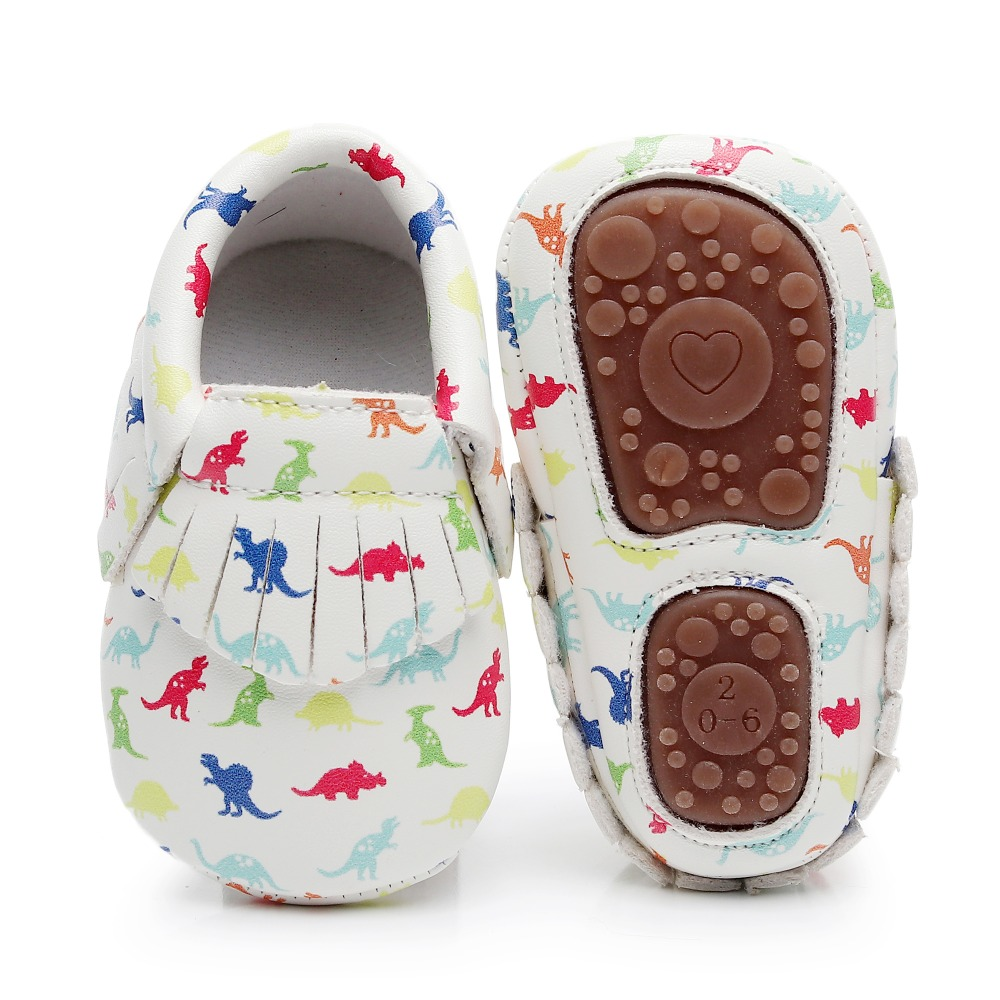 PU Leather Baby Moccasins Hard Sole For Baby Girls Boys