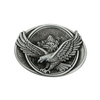 Flying Eagle Over Mountains Belt Buckle For Mens Jeans Accessories Brass Plating Suitable For 4cm Width