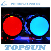 GZTOPHID 2 pcs/lot Super Bright Projector Led Devil Eye in Auto Lighting System with Cooling Fin for all Porjectors Lens