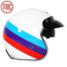 Bán TORC T57 Moto Rcycle Mũ Bảo Hiểm Phản Lực Vintage Mũ Bảo Hiểm Mở Mặt Retro 3/4 Nửa Casco Moto Capacete Moto ciclismo