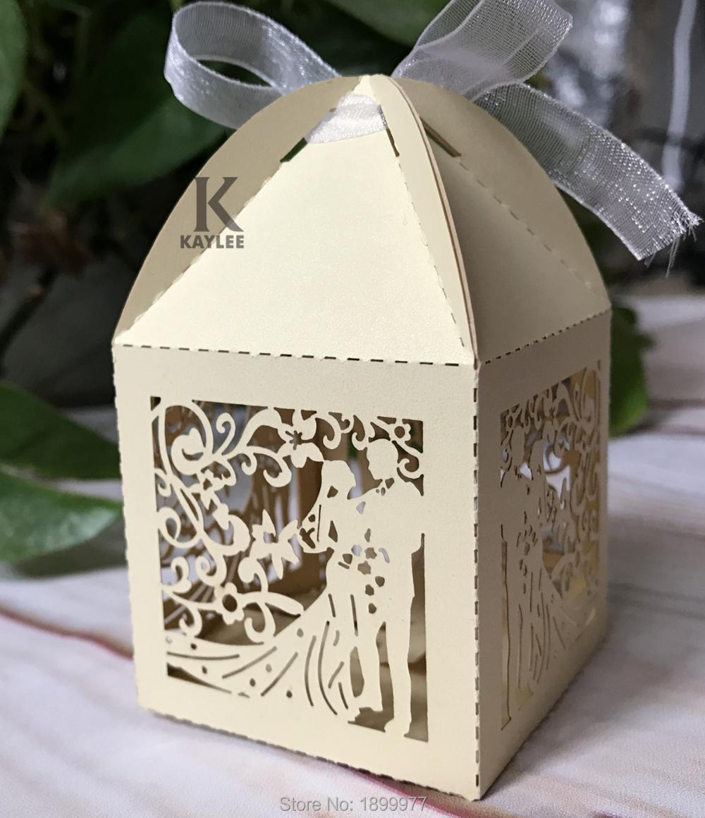 Delicate Bride Groom Design Favor Box for Wedding Decoration,100pcs ...