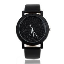 Important Wristwatch Bangle BraceletStar Minimalist Vogue Watches For Lovers Leather-based Strap Watches Ladies 16Nov08