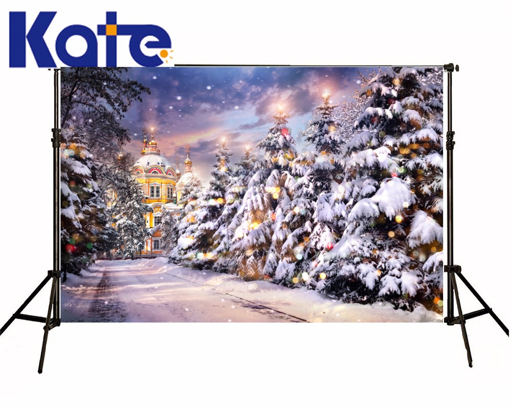 KATE Christmas Photography Backdrops Castle Backdrop Arvore De Natal Background Snowflake Backdrop Glitter Backdrop for Studio сумка kate spade new york wkru2816 kate spade hanna