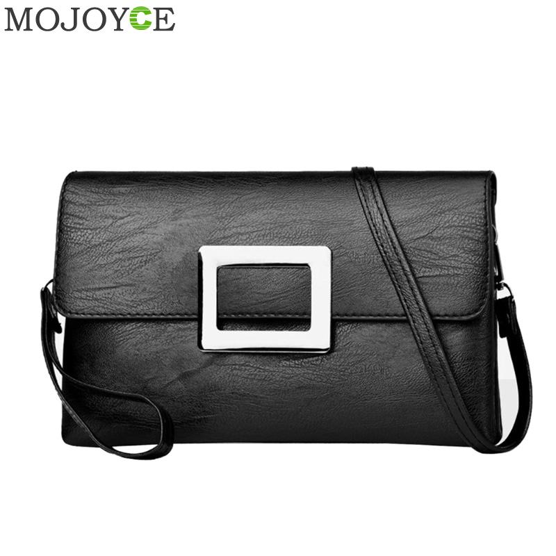 Women Envelope Handbag PU Leather Flap Messenger Bag Fashion Brand Shoulder Bag Women Crossbody Bags Elegant Female Clutch 2018