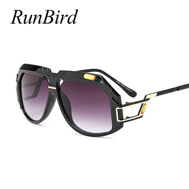 RunBird Clássico Praça Óculos De Sol Dos Homens Das Mulheres Designer De Marca  Óculos de Sol 6496fab3a5