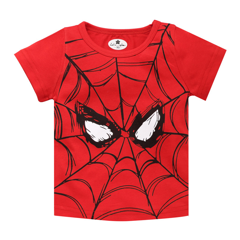 Tops T-Shirts Short-Sleeve Spiderman Hero Print Baby-Boy Children Summer New Tee Popular