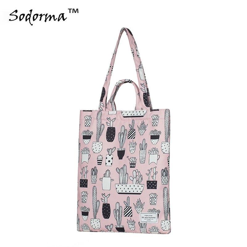 Dessin animé de mode impression Fourre-Tout sac à lunch des élèves sac femmes épaule sac à main shopping sac