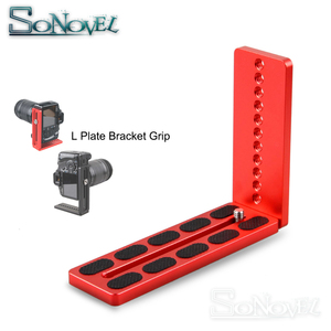 Image 1 - Vertical Shoot Quick Release L Plate Bracket Grip Base Holder for Canon Nikon DSLR Camera & Zhiyun DJI Gimbal Stabilizer